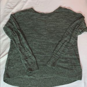 SO high low sweater lace up back